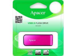 Флешка USB  Apacer AH33464GB AP64GAH334P-1 Pink