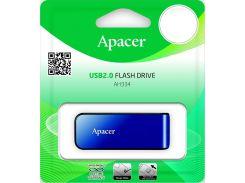 Флешка USB  Apacer AH334 64GB AP64GAH334U-1 Blue