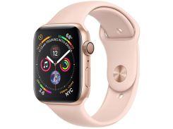 Смарт годинник Apple Watch Series 4 GPS 44mm Gold Aluminium with Pink Sand Sport Band  (MU6F2)