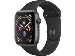 Смарт годинник Apple Watch Series 4 GPS 44mm Space Grey Aluminium with Black Sport Band  (MU6D2)