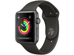 Смарт годинник Apple Watch Series 3 GPS 42mm Space Grey Aluminium Case with Black Sport Band  (MTF32)
