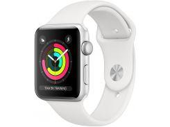 Смарт годинник Apple Watch Series 3 A1859 GPS 42mm Silver Aluminium with White Sport Band  (MTF22)