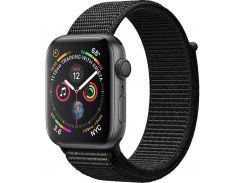 Смарт годинник Apple Watch Series 4 GPS 40mm Space Grey Aluminium with Black Sport Loop  (MU672)
