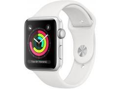 Смарт годинник Apple Watch Series 3 GPS 38mm Silver Aluminium Case with White Sport Band  (MTEY2)