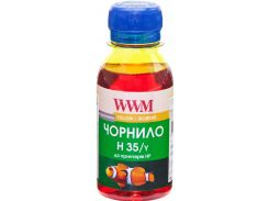чорнило wwm for hp 22/121/134/135/136/141 yellow 100g (h35/y-2)