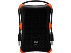 Зовнішній жорсткий диск  Silicon Power Armor A30 Black з оранжевим