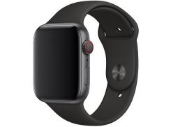 Ремінець Apple Sport Band for Apple Watch 44mm Black - S/M  M/L  (MTPL2)