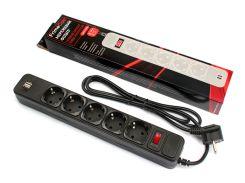 Мережевий фільтр FRIMECOM FC-BU4005W 5/2xUSB 1.8m Black