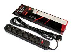Мережевий фільтр FRIMECOM FC-B4006W 6/1.8m Black  (FC-B4006W 1.8m, Black)