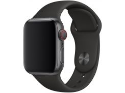 Ремінець Apple Sport Band for Apple Watch 40mm Black - S/M M/L  (MTP62)