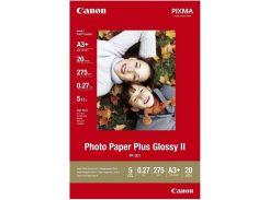 Фотопапір Canon Glossy II PP-201, глянцевий, 275г/м, A3+, 20арк.