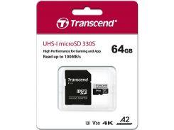 Карта пам'яті Transcend 330S Micro SDXC 64GB TS64GUSD330S