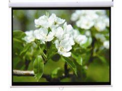 Проекційний екран Logan PRM4 2.4х1.8м, настінний з механізмом повернення