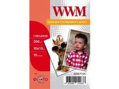 Фотопапір 10x15 WWM 10 аркушів (G200.F10/C)