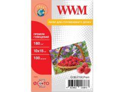 Фотопапір 10x15 WWM Premium 100 аркушів (G180.F100.Prem)