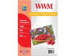 Фотопапір A4 WWM Premium 50 аркушів (G180.50.Prem)