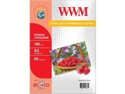Фотопапір A3 WWM Premium 20 аркушів (G180.A3.20.Prem)