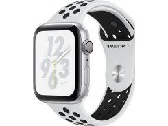 Смарт годинник Apple Watch Nike+ Series 4 GPS, 44mm Silver Aluminium Case with Pure Platinum/Black Nike Sport Band (MU6K2)