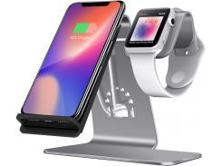 Док-станція Wireless Charge iPhone plus iWatch Gray
