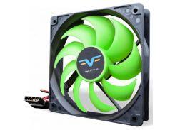 Вентилятор для корпуса Frime FGF120 Black/Green  (FGF120HB4)