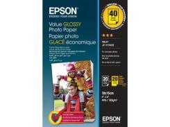 Фотопапір 10x15 Epson Value глянцевий 2x20арк.