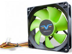 Вентилятор для корпуса Frime FGF80 Black/Green  (FGF80HB3)
