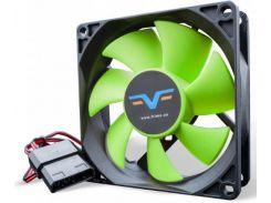 Вентилятор для корпуса Frime FGF80 Black/Green  (FGF80HB4)