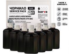 Чорнило Barva for Epson M100/M105/M200/M205 Pigment Black (10x100g)