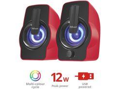 Колонки Trust Gemi RGB Speaker Set Red  (22979)