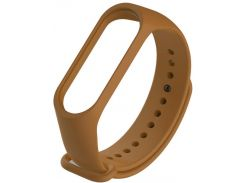 Ремінець Climber for Xiaomi Mi Band 4 - Original Style Silicone Single Color Brown  (CBXM407 Brown)