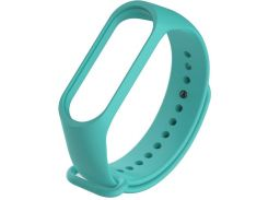 Ремінець Climber for Xiaomi Mi Band 4 - Original Style Silicone Single Color Turquoise  (CBXM407 Turquoise)