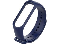 Ремінець Climber for Xiaomi Mi Band 4 - OriginalStyle Silicone Single Color Dark Blue  (CBXM407 Dark Blue)