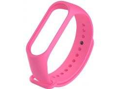Ремінець Climber for Xiaomi Mi Band 4 - Original Style Silicone Single Color Pink  (CBXM407 Pink)