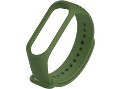 Ремінець Climber for Xiaomi Mi Band 4 - Original Style Silicone Single Color Green  (CBXM407 Green)
