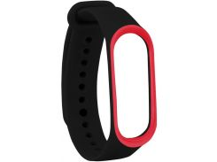 Ремінець Climber for Xiaomi Mi Band 4 - OriginalStyle Silicone Double Color Black/Red  (CBXM408 Black/Red)