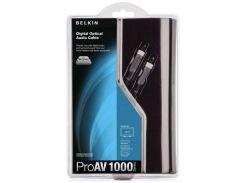 Кабель Belkin Pro Toslink / Toslink 1m Black  (AV10009QP1M)