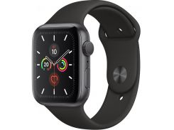 Смарт годинник Apple Watch Series 5 GPS 44mm Space Grey Aluminium with Black Sport Band  (MWVF2)