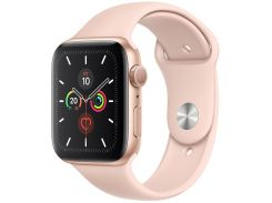 Смарт годинник Apple Watch Series 5 GPS 44mm Gold Aluminium with Pink Sand Sport Band  (MWVE2)