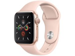 Смарт годинник Apple Watch Series 5 GPS 40mm Gold Aluminium with Pink Sand Sport Band  (MWV72)