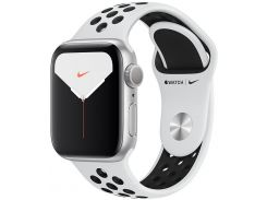 Смарт годинник Apple Watch Nike+ Series 5 GPS, 44mm Silver Aluminium Case with Pure Platinum/Black Nike Sport Band - S/M & M/L (MX3V2)