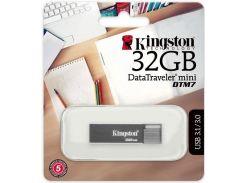 Флешка USB  Kingston DT Mini 7 32GB DTM7/32GB Silver/Grey