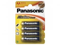 батарейка panasonic aa alkaline power 4 шт (lr6reb/4bpr)
