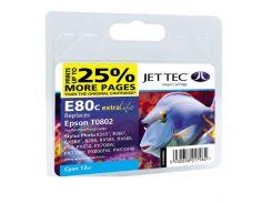 Картридж Jet Tec E80С Epson Stylus Photo P50, PX660, PX720WD Blue