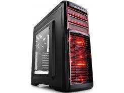Корпус Depcool KENDOMAN Black/Red з вікном