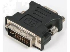 Перехідник Viewcon DVI (24+5) тато / VGA мама Black