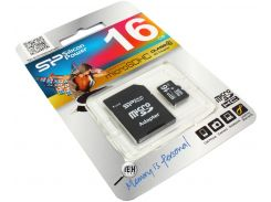 Карта пам'яті Silicon Power Micro SDHC 16ГБ (SP016GBSTH010V10-SP)