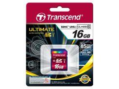 Карта пам'яті Transcend SDHC Ultra High Speed 16 ГБ (TS16GSDHC10U1)