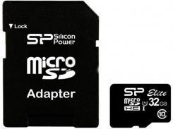 Карта пам'яті SiliconPower microSDHC UHS-I Elite 32ГБ (SP032GBSTHBU1V10-SP)