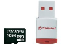 Карта пам'яті Transcend MicroSDHC 16ГБ (TS16GUSDHC10-P3)