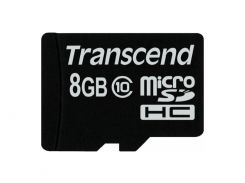 Карта пам'яті Transcend microSDHC 8 ГБ (TS8GUSDC10)